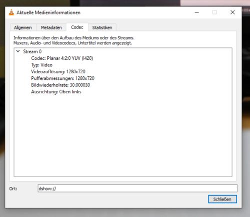 EOS1300D unter Windows im VLC